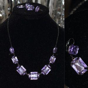 Jewelry - Purple Earring & Necklace Set